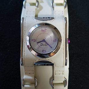 Dolce & Gabanna Ivory Leather Watch - Women's